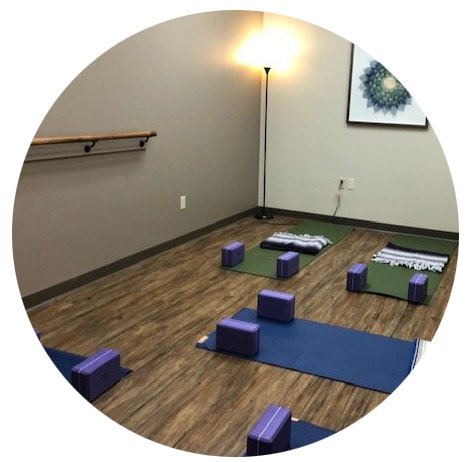 Danelle Chapman Counseling yoga room with mats laid out